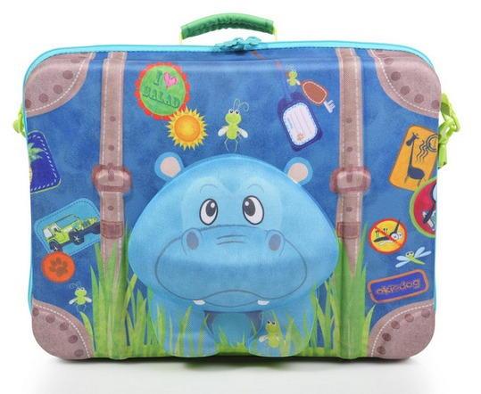 c5aa08461ce Okiedog Wildpack 3D kinderkoffer Hippo, de leukste koffers voor de ...